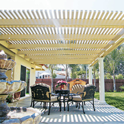 White Lattice Patio Cover